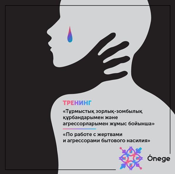 В Алматы состоится тренинг «По работе с жертвами и агрессорами бытового насилия»